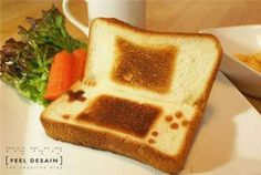 Nintendo DS Toast, Because the Wii U Has too Many Buttons Cute Food, Good Food, Yummy Food, Tostadas, Wii U, Breakfast Desayunos, Perfect Breakfast, Xbox, Strawberry Jelly