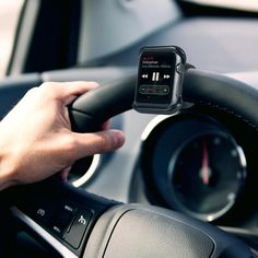 The Satechi Apple Watch Grip Mount provides a place to clip in and attach your Apple Watch to a steering wheel or bicycle handlebar, allowing easy and hands-free access to your device. #androidwatch,digitalwatch,gpswatch,sportwatch,quartzwatch,luxurywatches,elegantwatches,bestwatches,beautifulwatches,menswatches,appleWatch,smartwatches,fashionwatches,aestheticwatches,casualwatches,popularwatches Apple Watch Iphone, Steve Wozniak, Apple Watch Series 2, Apple Watch Bands, Apple Tv, Apple Watch Accessories, Car Accessories, Accessoires Iphone, Cool Electronics