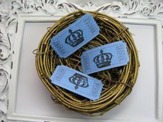 Little Prince Crown Tickets Baby Shower Games by GoldenNestStudio