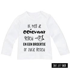 Baby shirt 'Ik heb de ooievaar gebeld'. #zwanger #shirt #baby #ooievaar #broer #zus ***Dit product is door Studio Dat zit snor ontworpen en mag zonder toestemming niet gebruikt of gekopieerd worden (auteursrechtelijk beschermd)***