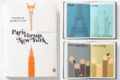 Paris versus New York. I have this in postcards :)