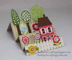 Close to My Heart Treetops and Lori Whitlock house step card