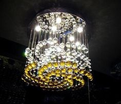 Unique amber and crystal chandelier