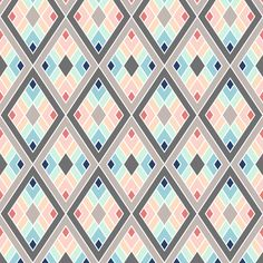trendy diamonds fabric by sef on Spoonflower - custom fabric