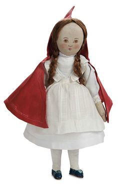 "The Blackler Collection (Part 2 of 2-Vol set): 242 American Cloth Doll ""Little Red Riding Hood"" by Babyland Rag"