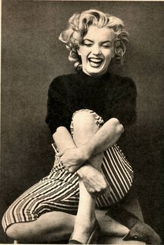 "Marilyn photographed by Ben Ross ""...make a girl laugh..."""