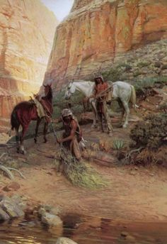 Lovell, Tom (b,1909)- Indian Scouts Covering Tracks -2a