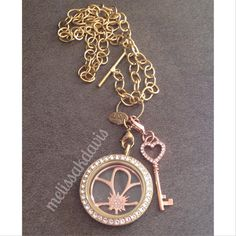 A personal friend's locket. #gold on #rosegold melissakdavis.origamiowl.com