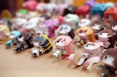 Paper crafts characters by ~truonggiang-kts on deviantART