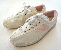 Tretorn shoes. I had these pink ones, florescent green and some plaid ones.