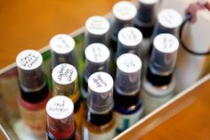 Idea for storing color sprays and mists.  #organization