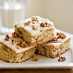 I usually make these into cupcakes... yum! Roasted Banana Bars with Browned Butter–Pecan Frosting Recipe | MyRecipes.com