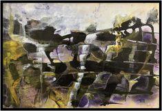 """""""Sandria Quellen"""" Aquarell Vienna Gouache, Landscape, Painting, Art, Glow Paint, Vibrant Colors, Abstract Art, Idea Paint, Watercolor"""