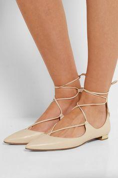 aquazzura christy point-toe flats