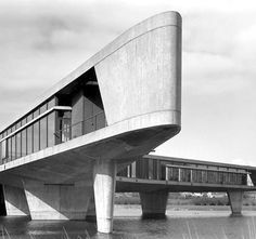 The Boomerang' office building for Johnson Wax,1960 by H.A. Maaskant Brutalism. Mijdrecht, Netherlands.