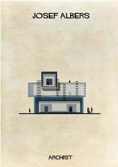 Federico Babina - Illustrations of Famous Art Reimagined as Architecture - Josef Albers