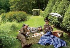Fashiontography: Natalia Vodianova by Annie Leibovitz | The Custom of the Country - Vogue, September 2012
