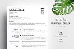 Clean Resume by TemplateForest on @creativemarket