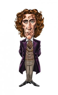 A close-up from the limited edition print of 8, Paul McGann by Tom Richmond of Mad magazine.