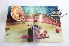 Circus Zingaro – A pop up book (finished) – faltmanufaktur-Tina Kraus