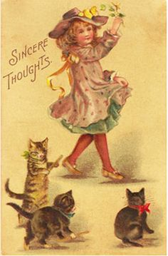 Vintage Valentine Postcards and Illustrations for Collectors: Sincere Thoughts Postcard