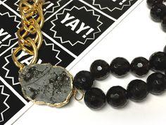 DIY Druzy, Gemstone & Chain Necklace | Alonso Sobrino Hnos. Co. & Inc. Druzy Beads and Fabrics