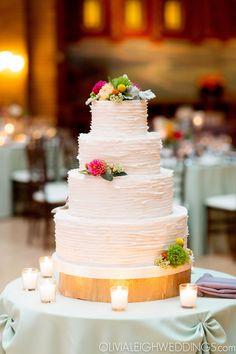Amy Beck Cake Design -  4 Tier Ruffled Fondant wedding cake