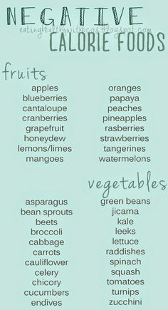Eating Healthy with #PCOS: Negative Calorie Foods