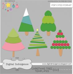 CU - Christmas Tree Templates