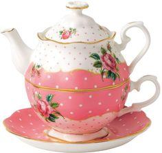 Royal Albert Cheeky Pink Tea For One Set