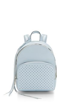Star Perforated Backpack - Just try not to smile at this star-perforated backpack. Stash your essentials in the zippered front pocket and store bulkier items in the roomy main compartment. Thick, padded straps make toting the bag comfortable and easy.