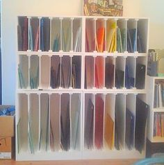 Handy glass storage from ARTful Salvage.