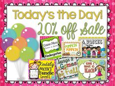 One day only - 8/28/14 - Take 20% off Kodaly Resources. #musicedchat #kodalyclassroom #elemused