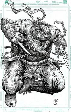 Teenage Mutant Ninja Turtles - Raphael by Allen Geneta *