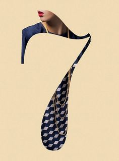 Makes me think of reimagining a number seven in the form of a necktie, which could be really cool