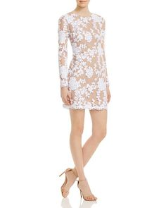 Dress the Population Grace Sequined Lace Dress White/Nude $195 SHIPS FREE or PICK UP IN SANTA MONICA * BEST PRICE GUARANTEED * PURCHASE HERE: http://piermart.com/dress-the-population-grace-sequined-lace-dress-white-nude-195-ships-free/