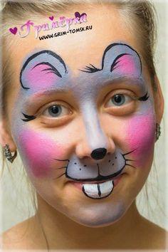 Аквагрим, грим, мышка face painting, make-up, mouse ideas for kids