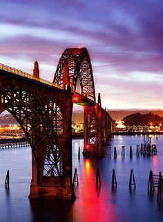 Christmas Morning Sunrise Along The Oregon Coast Over The Yaquina Bay Bridge | Oregon | Photo By Darren White