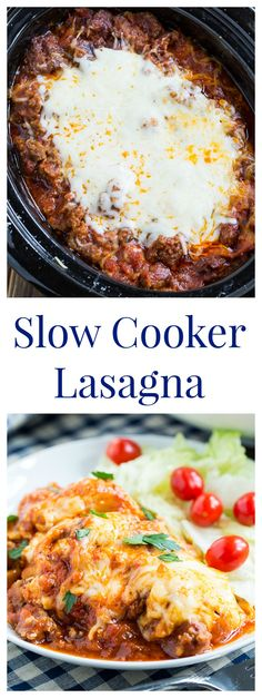 Williams Sonoma Slow Cooker Lasagna - the easiest and best lasagna ever. You won't believe how good crockpot lasagna can taste!