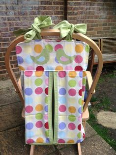 Handmade nappy/diaper stacker polka dots new by StitchedupByRebecca on Etsy