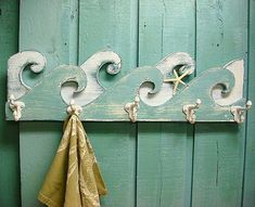 This article is not available Waves Coat Rack Hook Rack Sign W . - This article is not available Waves Coat Rack Hook Rack Sign Wall Beach House by Castaw - Beach Cottage Style, Beach House Decor, Coastal Style, Coastal Living, Coastal Decor, Home Decor, Brant Point Lighthouse, Deco Nature, Nautical Home