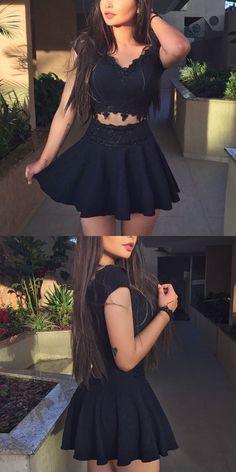 Short Homecoming Dresses,Semi Formal Dress,Black Homecoming Dress,Short Prom Gowns,Elegant Cocktail Dress