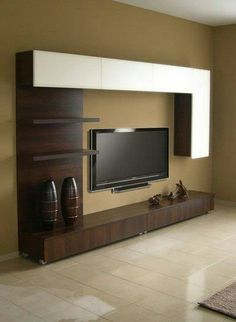 97 Good Tv Wall Design Ideas - Galoresolution Inc Modern Tv Unit Designs, Modern Tv Wall Units, Wall Unit Designs, Living Room Tv Unit Designs, Tv Stand Designs, Modern Tv Cabinet, Modern Tv Room, Modern Wall, Modern Living