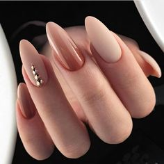 50 classy nail designs with diamond ideas that will steal the show . - 50 classy nail designs with diamond ideas that will steal the show - Oval Nails, Diamond Nails, Nude Nails, Diamond Jewelry, Nails With Diamonds, White Nails, Glitter Nails, White Polish, Diamond Nail Designs