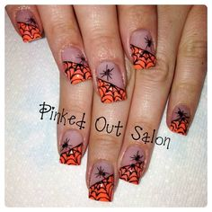 Are you looking for easy Halloween nail art designs for October for Halloween party? See our collection full of easy Halloween nail art designs ideas and get inspired! Fall Nail Art Designs, Halloween Nail Designs, Halloween Nail Art, Nail Polish Designs, Acrylic Nail Designs, Halloween Halloween, Acrylic Nails, Gel Nail, Fancy Nails