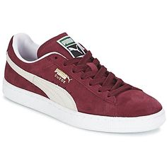 Baskets mode Puma SUEDE CLASSIC+ Rouge / Blanc 350x350