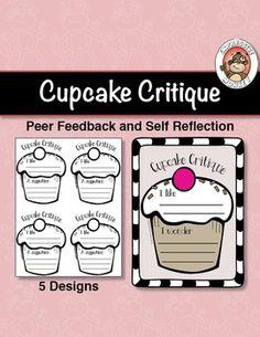 Cupcake Critique Peer Feedback Activity