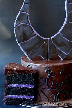 Maleficent Black Velvet Cake - For all your cake decorating supplies, please visit craftcompany.co.uk