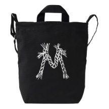Custom Letter M Initial Monogram Duck Bag Duck Canvas Bag