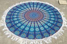 Mirchi Kali Mandala Round Roundie Beach Blanket Beach Hippie Mandala Bohemian Tapestry Home Decor Yoga Mat Beach With Tassels Beach Blanket, Picnic Blanket, Outdoor Blanket, Beach Hippie, Crochet Mandala Pattern, Crochet Art, Tapestry Crochet, Mandala Tapestry, Mandala Print